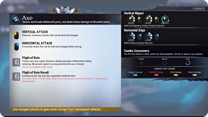 Dauntless Weapons Guide - Axe